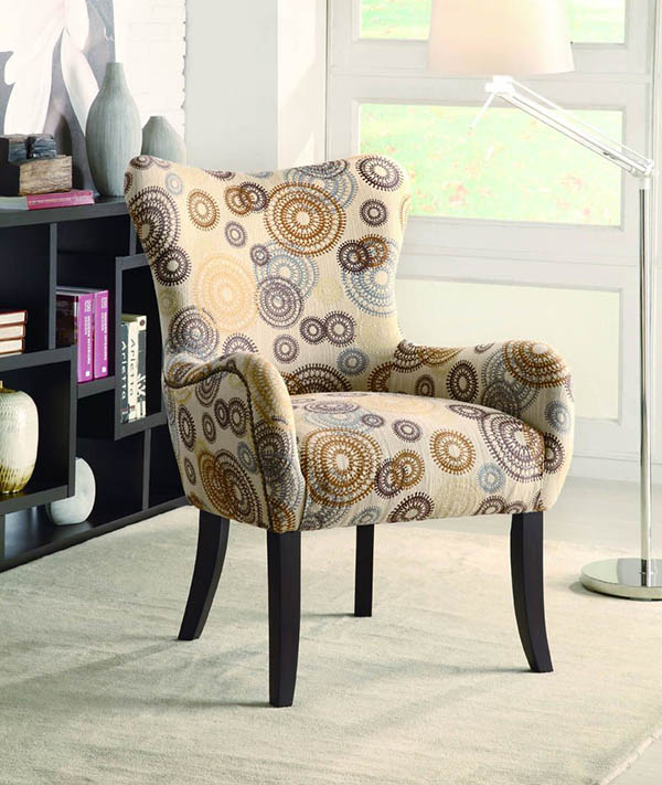 Brown Chair Cream Accent And