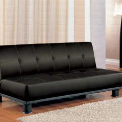 Chicago Sofa Bed Table Brisbane Faux Leather Modern Convertible Black | Marjen Of ...