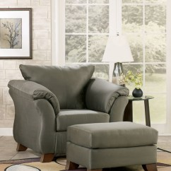 Ashley Furniture Darcy Sofa Sleeper Single Seater Size Darcy-sage | Marjen Of Chicago Discount ...