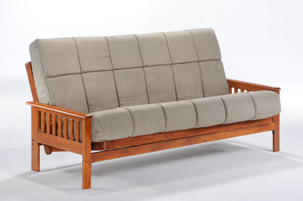 sleeper sofas chicago il modern living room with grey sofa night and day furniture trinity full futon frame - hickory ...