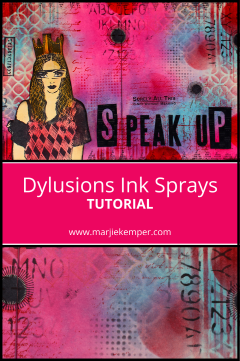 Dylusions Ink Sprays tutorial (Marjie Kemper)