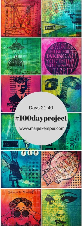 #100dayproject Marjie Kemper Days 21-40