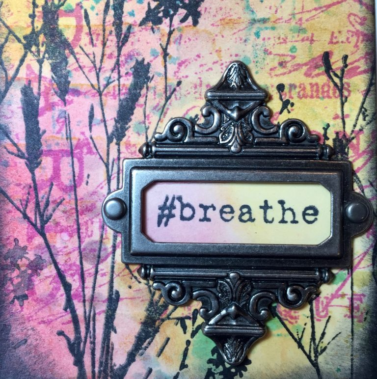 Distress Ink - Breathe Tag