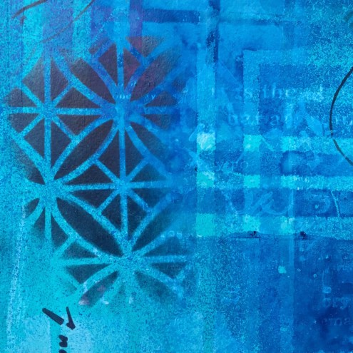 Dreaming in Blue - art journal - Marjie Kemper