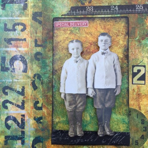 Mixed Media Collage Tag (Marjie Kemper)