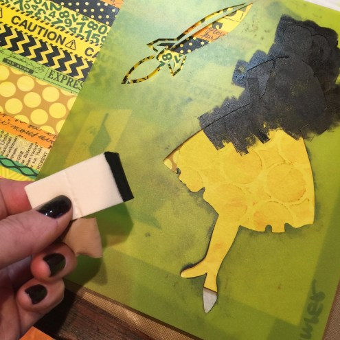 Stenciling with paint