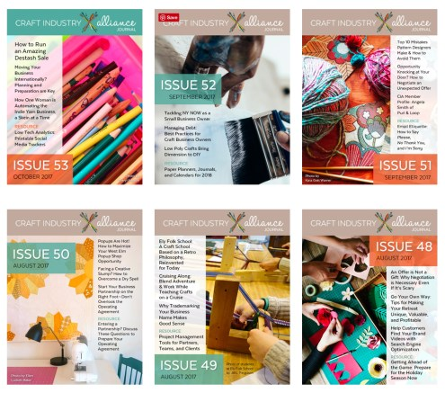 Craft Industry Alliance Journal Samples
