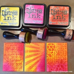 How to Use Distress Inks with Stamps and Stencils Tutorial (Marjie Kemper)