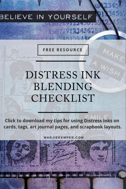 Distress Ink Blending Checklist (Marjie Kemper)