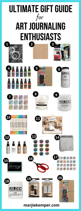 The best gift guide for people like to art journal, scrapbook, or make paper crafts of any kind!