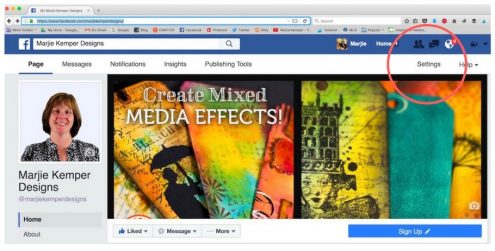 Behind-the-Scenes Business Tips 2 for Artists, Entrepreneurs, and Small Business Owners (Marjie Kemper) Today's tip is how to create a Targeted Audience on your Facebook Business Page (Marjie Kemper)