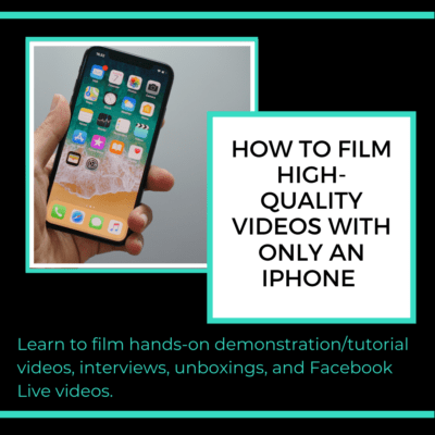 How to film with your iphone class