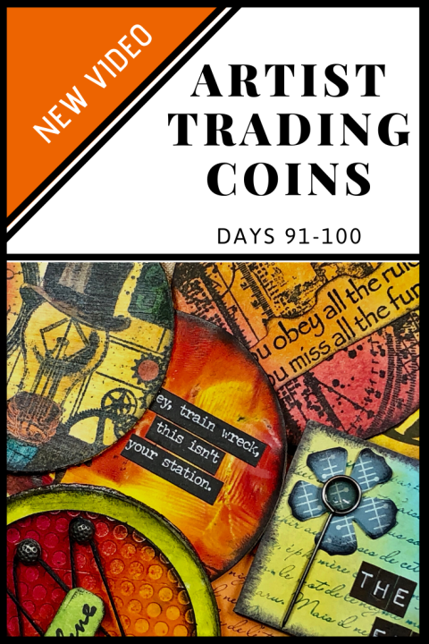 ATC Video - Artist Trading Coins Days 91-100 of The 100 Day Project (Marjie Kemper)