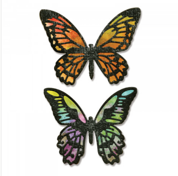 sizzix detailed butterflies thinlits die set example