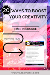 20 Ways to Boost Your Creativity - Checklist from Marjie Kemper
