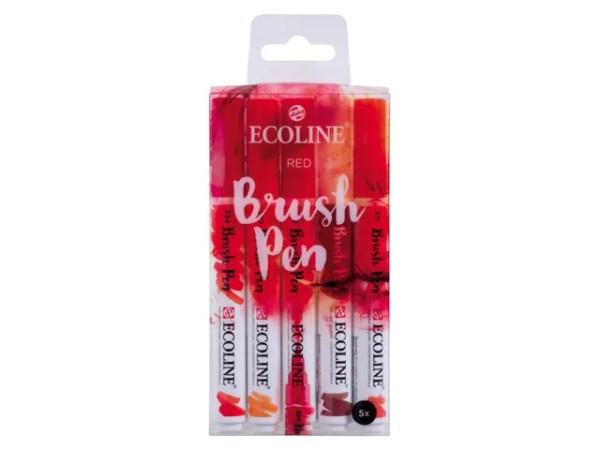 Ecoline brushpenset rood