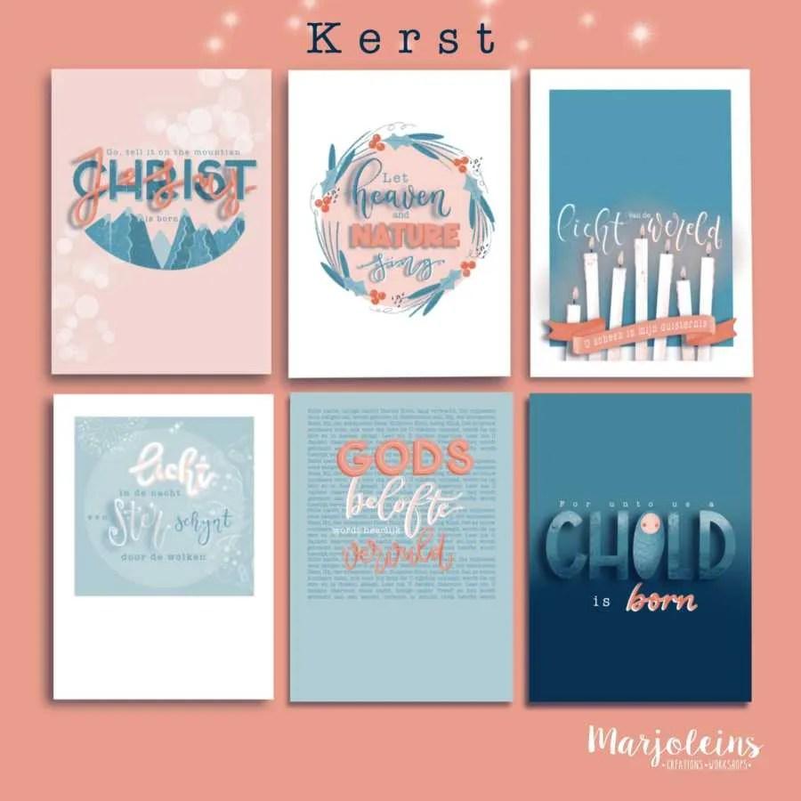 christelijke kerst kaarten marjoleins creations