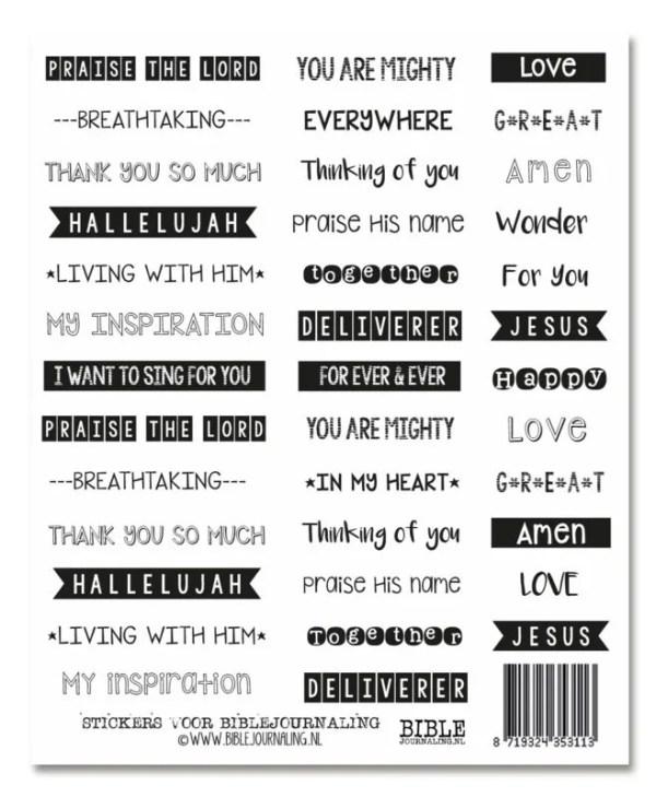 Stickervel biblejournaling