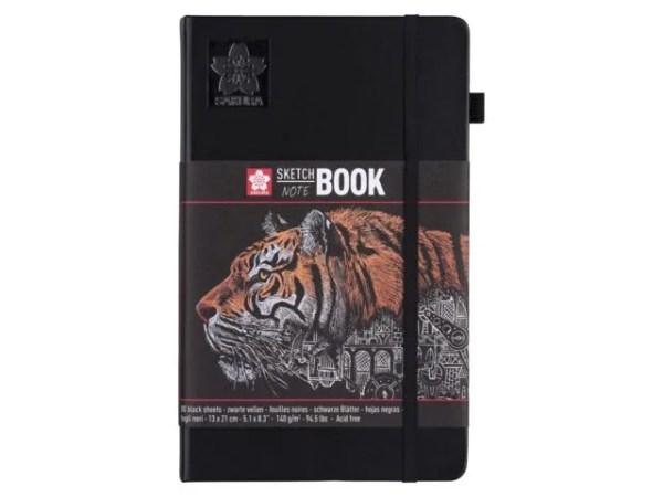 Talens sketch notebook 13x21 zwart papier