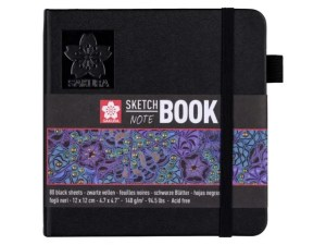 Talens sketch notebook zwart papier