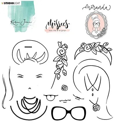 karin joan clear stamp miranda missees collection nr 7