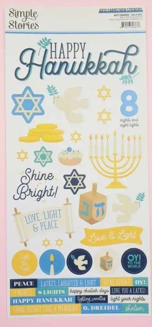 Simpel stories happy hannukah stickers
