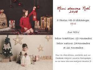 Mini Séances Noel 2018 Photographe Nord