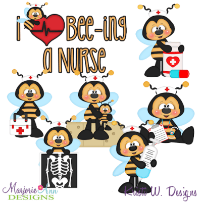 Download I Love Bee-ing A Nurse SVG Cutting Files + Clipart - $2.28 ...