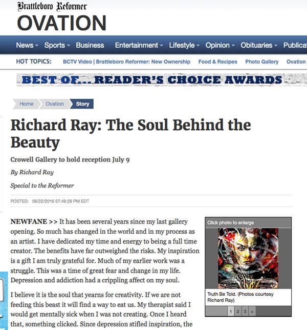 RichRayArt-Brattleboro-Reformer-Article