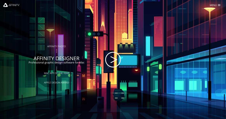Affinity web design tools