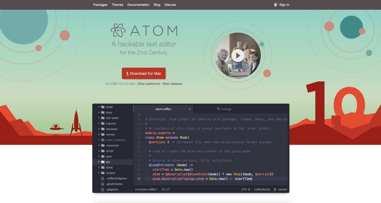 Atom web design tools
