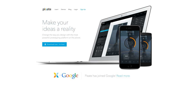 Pixate web design tools