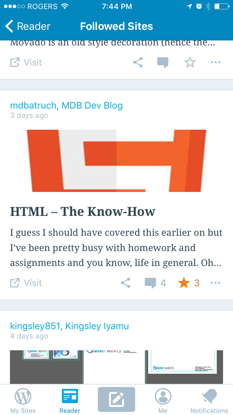 Read and Comment on Posts