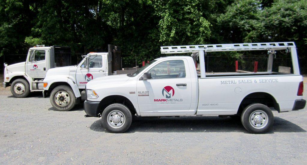 Mark Metals Delivery Trucks