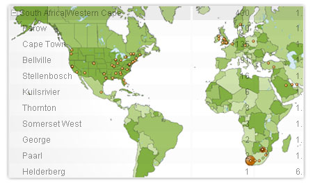 Google Analytics Geo Location