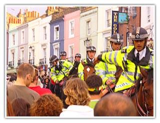 Police Horse Headbutt