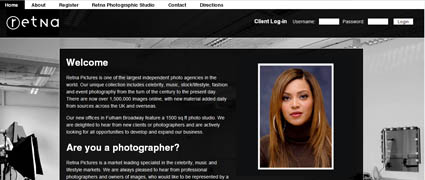 Retna Pictures UK Website Design