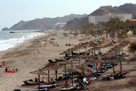 Sunlounger on Mojacar Beach