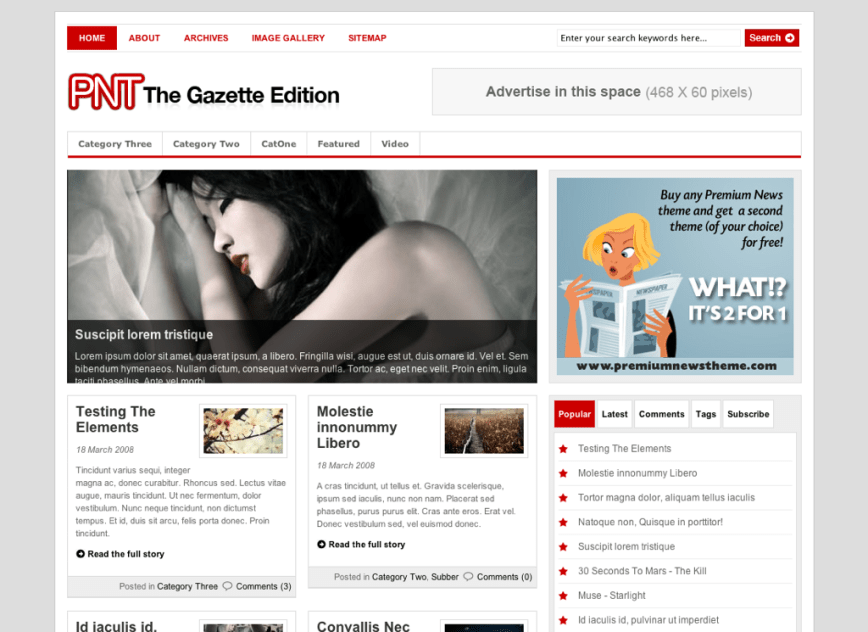 WordPress Premium News Theme – The Gazette Edition