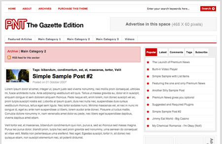 Premium News Theme - The Gazette Edition