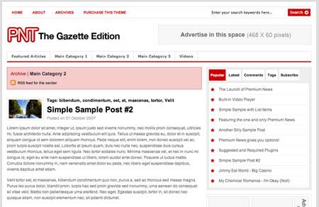 Premium News Theme - The Gazette Edition