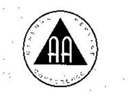 AA GENERAL SERVICE CONFERENCE Trademark of ALCOHOLICS