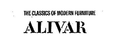 THE CLASSICS OF MODERN FURNITURE ALIVAR Trademark of