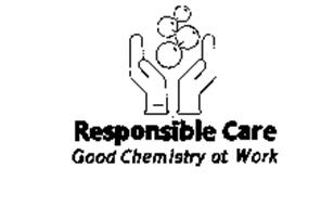 RESPONSIBLE CARE GOOD CHEMISTRY AT WORK Trademark of