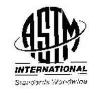 ASTM INTERNATIONAL STANDARDS WORLDWIDE Trademark of
