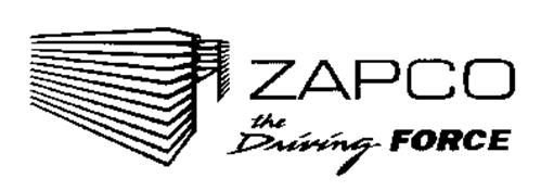 ZAPCO THE DRIVING FORCE Trademark of A.R.P.A. OF AMERICA