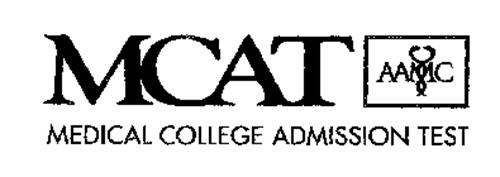 MCAT AAMC MEDICAL COLLEGE ADMISSION TEST Trademark of