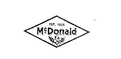 MCDONALD EST. 1856 Trademark of A.Y. McDonald Mfg. Co