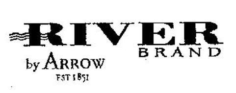 RIVER BRAND BY ARROW EST 1851 Trademark of CLUETT PEABODY