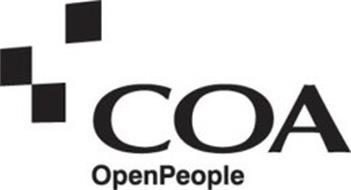 COA OPENPEOPLE Trademark of COA SOLUTIONS LIMITED Serial